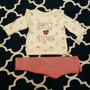 New Carter's sweater and leggings set 18M